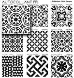 Autocollant.fr 1 Stickers Carreaux de Ciment modèle Agrigente de 10 cm | Finition Mate| Stickers carrelage par 1 pièces | Italie-Serie-3