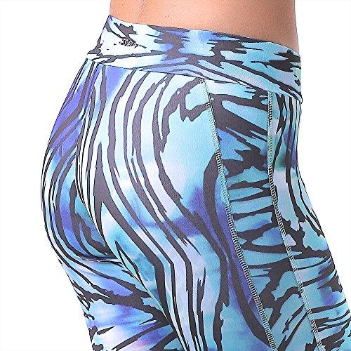 BOXEUR DES RUES - Bxe-1505d, Leggings sportivi Donna Multicolore (Allover)