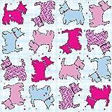 Chien Scottie Lot de 20serviettes en papier pour serviettes/écossais sur le thème