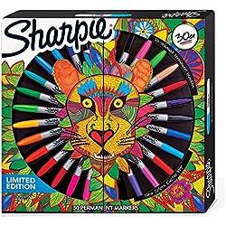 Sharpie 2016730caja de 30rotuladores permanentes Pack Lion edición limitada colores surtidos