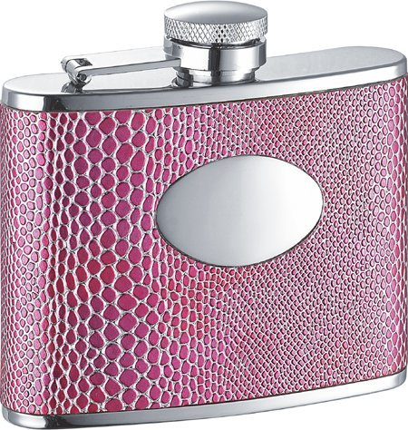 Visol Anaconda Hot Pink Synthetic Leather 4oz Flask by Visol