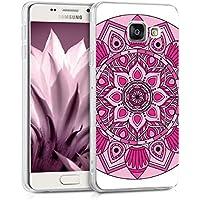 kwmobile Coque pour Samsung Galaxy A3 (2016) – En silicone TPU coque protectrice pour portables – Étui translucide en rose foncé rose clair transparent