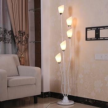 2 x Watt QAZQA Industrial/Modern Floor Lamp Suplux 2 Steel/Nickel Matt/Satin Steel Oblong GU10 Max 2-Way/Indoor Lighting/Lights/Lamps/Living Room