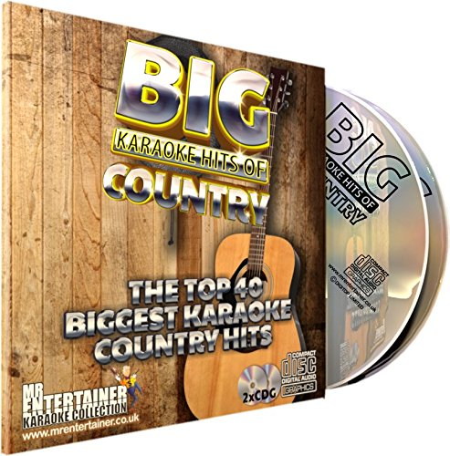 Mr Entertainer Big Karaoke Hits of Country - Double CD+G (CDG) Pack. 40 Classic Country Songs. la música country