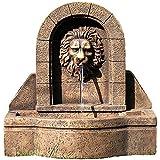 STILISTA Gartenbrunnen Modell LEON mit Löwenkopf, 50 x 54 x 29 cm, inkl. Pumpe