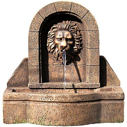 """STILISTA® Gartenbrunnen Modell """"LEON"""" mit Löwenkopf, 50 x 54 x 29 cm, inkl. Pumpe"""
