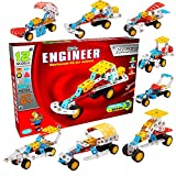 #8: Smartcraft Little Engineer - Racer, Little Engineer Kit for Juniors - Racer Cars Set with Pullback Mechanism, Age 6+