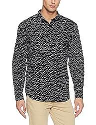 United Colors of Benetton Mens Casual Shirt(8903975330504_17P5DC17U008I_M_Black)