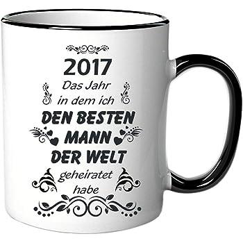 Amazon De Tasse Mit Spruch Schriftzug 2017 Das Jahr In Dem Ich