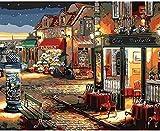 LISHIHAOZY Peinture au numéro Kit, Dessin De Peinture À l'huile Bricolage Toile avec Brosses Décor Décorations Cadeaux Cabine Téléphonique 40X50Cm(sans Cadre)