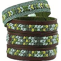 Avenue Mandarine - Sac Pix Tresor de 3 Bracelets Point de Croix, KC051C, Bleu