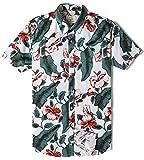 Camicia Hawaiana da Uomo Estiva Fiori Tropicale 3D Stampa Manica Corta Casual Camicie Shirt …