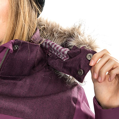 61XpmJaR8oL. SS500  - Trespass Women's Garner Outdoor Hooded Waterproof Parka Down Jacket Coat