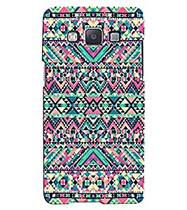 Citydreamz Colorful Stripes/Shapes Hard Polycarbonate Designer Back Case Cover For Samsung Galaxy E5