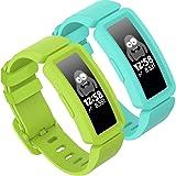GVFM compatibel met Fitbit ace 2 bands voor kinderen 6+, zachte siliconen waterdichte armband accessoires sport riem jongens