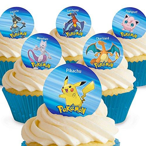 und Essbare Pokemon Kuchen Topper (Tortenaufleger, Bedruckte Oblaten, Oblatenaufleger) ()