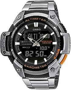 Casio Orologio Analogico-Digitale Quarzo Uomo con Cinturino in Acciaio Inox SGW-450HD-1BER