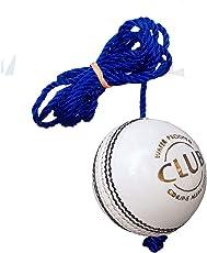 PSE Priya Sports Leather Club Practice Hanging Cricket Ball White