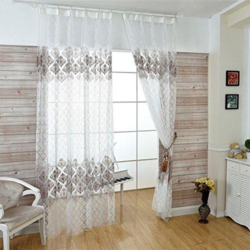 Livecity, tenda in tulle da usare con asta, decorazione per la casa, per stanze e camere da letto, coffee, large