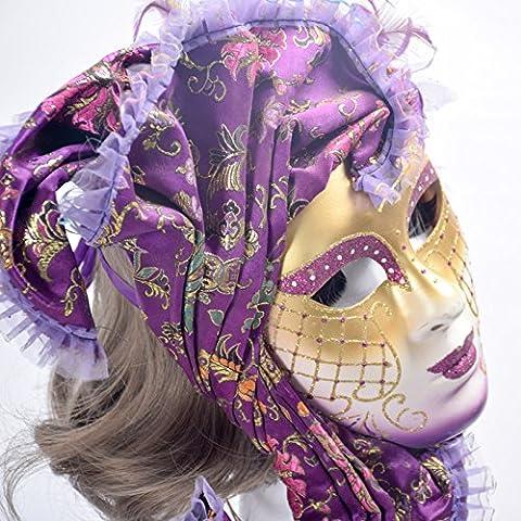 Black Widow Halloween Costume Accessoires - K & C Venise Halloween Masquerade masques,