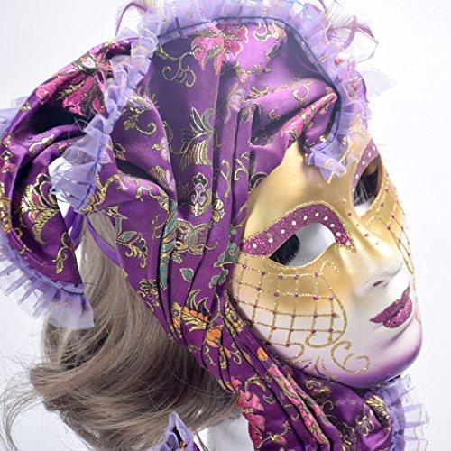 K&C Venice Halloween Costume Masquerade Masks (Make Kostüm Schwarze Witwe Up)