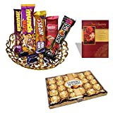 #2: 24 Pieces Ferrero Rocher Chocolate, Chocolate Gift Hamper With Anniversary Greeting Card, 56