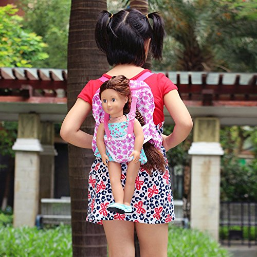 """ZITA ELEMENT® Mode Sac à dos Porte-Bébé Pour 18"""" Poupée American Girl 45-46cm Poupées bébé Madame Alexander Our Generation Dolls"""