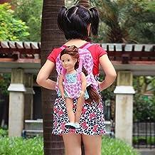 ZITA ELEMENT Muñeca de moda Mochila para niños para18 pulgadas American Girl Doll y otra muñeca de 45-46cm