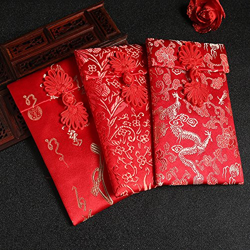 corcio Hongbao Chinesische Element Festive Seide rot Umschläge Geschenk Karte Hochzeit rot geld Taschen 4/Set