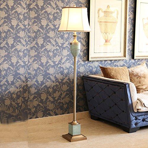 Hyun times Lampadaire en fer forgé en verre 41 * 165 de style américain salon avec table basse européenne rétro méditerranéenne créative chambre lampe de chevet