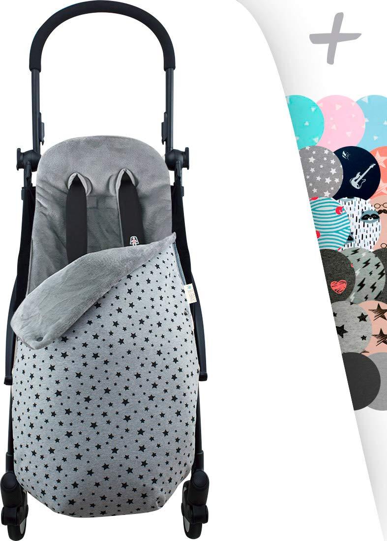 Janabebé Footmuff Sack Made for Pushchairs Twin Baby Stroller Graco, Jogger (Black Star, Fleece) JANABEBE  1