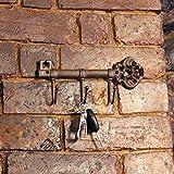 Garden Mile Vintage Antik-Stil Gusseisen Schlüsselbrett Haken Halter Handtuchhalter Garderobe wandmontage dekorativ Schlüssel Aufhängeleiste Rustikale Wohndeko