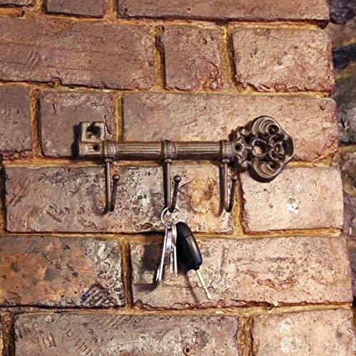 Garden Mile Vintage Estilo Antiguo Hierro Fundido Llave Estantería Gancho Soporte Toallero colgador de pared decorativo Llave Colgante Estantería Rústico Decoración Hogar