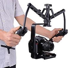 SolidGears Digitek DST-002 Spider Gimbal, shock absorber, Dual handheld stabilizer, steadicam glidecam steady rig for DSLR Mirrorless camera