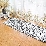 Morbuy Hochflor Korallen Samt Shaggy Schmutzfangmatte Teppich Anti-Rutsch-Bequeme Badematte Badezimmer-Teppich Super saugfähiger weicher Duschteppich-Indoor/Outdoor geeignet (40x120cm, Rauchgrau)
