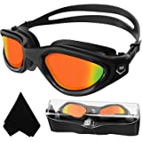 Adult Swimming Goggles,Polarized Open Water Goggles Swimming Anti Fog UV Protection No Leakage Clear Vision Easy to Adjust fo