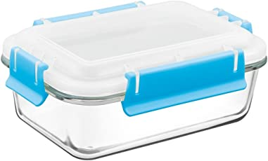 Treo By Milton Borosilicate Bake N Lock Glass Rectangular Container, 730ml, 1-Piece, Transparent