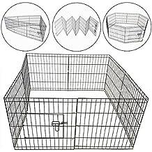 PISCES PETCARE 5060345211542 8 Panels Pet Puppy/Dog Playpen, Silver, Medium
