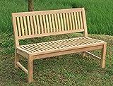 Stabile Gartenbank Kingsbury in Premium Teak ohne Armlehne ver. Größen, Banklänge:150 cm