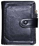 Outrip Womens PU Leather Wallets Cute Small Card Holder Organizer Zip Coin Purse(black)