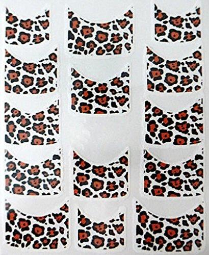 Nail art manucure stickers ongles scrapbooking: 14 décalcomanies motifs léopards design