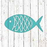 PPD Cabana Fish Servietten, 20 Stück, Tischservietten, Tissue, Blau / Taupe, 33 x 33 cm, 1331996
