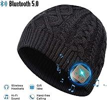 Bluetooth Beanie Hat, 5.0 Cappello Bluetooth, Cuffie a Cuffia wireless con Altoparlanti Stereo HD e MIC Incorporato,...