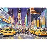 Póster 40 x 30 cm: Times Square at night de Paul Simmons - impresión artística de alta calidad, nuevo póster artístico