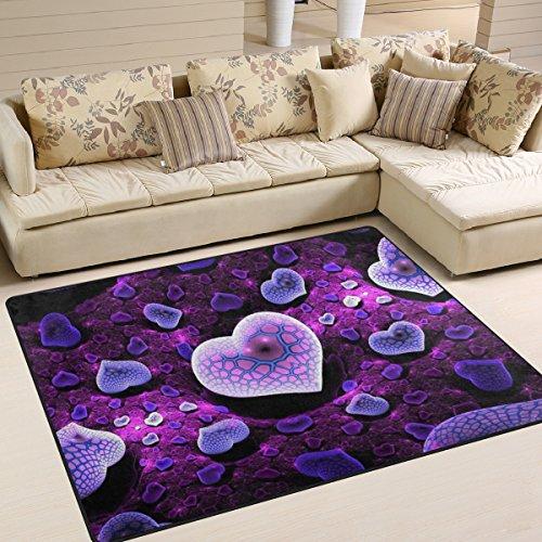ingbags Super Soft Love Modern Lila, ein Wohnzimmer Teppiche Teppich Schlafzimmer Teppich für Kinder Play massiv Home Decorator Boden Teppich und Teppiche 160x 121,9cm, multi, 63 x 48 Inch