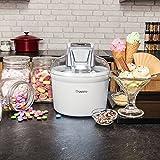 Savisto Ice Cream Maker - [Latest 2016 Digital Technology] Compact 1.5 Litre with Recipe Book - White