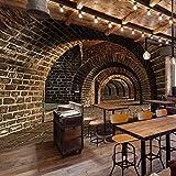 WJbxx Fotomurali Bar Decorazioni Per La Casa Carte Da Parati 3D Hd Tunnel Sotterraneo Foto Wallpaper Murale Divano Del Soggiorno Pittura Murale Di Fondo 300 * 210Cm