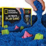 National Geographic Play Sand - 2700 Grams of Sand with Castle Moulds (Blue)