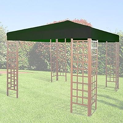 GIARDINI DEL RE Telo di Ricambio per Gazebo, Verde, 300x300x2 cm