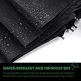 Pataele Regenschirm Taschenschirm, Auto Öffnen und Schließen für Einhandbedienung, Größere 210T Teflon Wasserdichte Überdachung, 10 Rippen Winddicht - 5